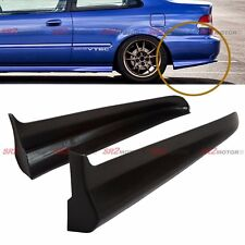 Rear PU Bumper Lip Spats Cap Spoiler Aprons Valences for 99-00 Civic Coupe EK