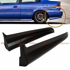 Rear Body PU Bumper Lip Kit Spats Cap Spoiler Aprons Valences for EK Civic Coupe