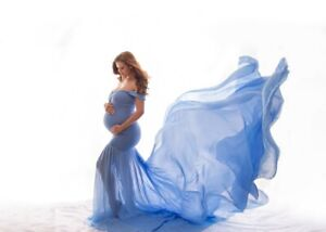 Maternity Trailing Dress Wedding Party Gown Ball Photography Evening Multi-color