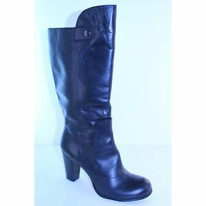 Rosegold Wynona Brown Leather Knee High Boots Womens Shoes Size 9.5 M EU 39.5
