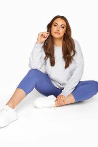 Yours Women's Denim Blue Cropped Leggings Plus Size Curve Blue Size