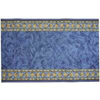 Hallway Runner Carpet Rug Blue 67cm Rubber Backed Cheops Per Metre Floor Mat New