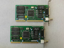 Ethernet ISA Lan Card 10Base2 Coaxial BNC AUI DA-15 LCS-8634L, lot of 2 pieces