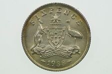 1938 Sixpence Variety Error Clipped Edge in aUnc Condition