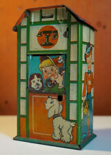 Vintage DGM Telephone Box Mechanical Coin Bank Made in U.S. Zone Germany 1940s