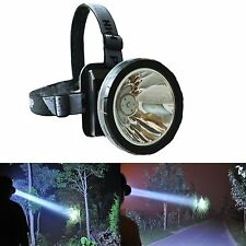 Headlamp Rechargeable 30W LED Flashlight with 3 Lithium Battery Mining Camping