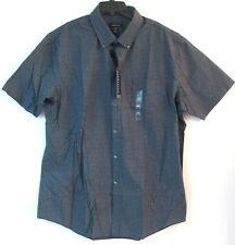 Xl/17-17.5 Neck Dress Shirt-Van Heusen-Black Iris/Checked-Premium-Nwt- Big & Tall