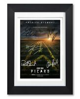 STAR TREK PICARD CAST SIGNED POSTER TV SHOW PRINT PHOTO AUTOGRAPH GIFT NETFLIX