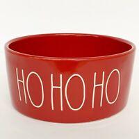 Rae Dunn HO HO HO Bowl Red Santa Christmas Serving Dish Cat Dog Bowl NEW