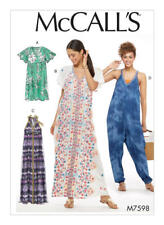 McCall's M7598  SZ 14-22 Misses' Easy Very Loose-Fitting V-Neck Dresses Jumpsuit