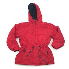 Outdoor Exchange Size S Parka Red Jacket Fleece Lined Coat Adult Small NYLON