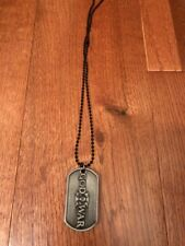 God of War Kratos Dog Tags Necklace Pendant Cosplay Rare Hot Rare & Pouch