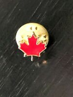 Collectible Vintage Canada Red Maple Leaf Colorful Metal Lapel Pin Lapel Pin