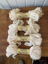 Lot (4) Skeins Brunswick Needlepoint Tapestry Wool Yarn – Beige
