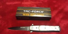 """Stiletto Style Assist knife White Pearl Handle 7 1/4"""" Overall New"""
