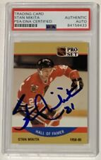 Stan Mikita 1990 Pro Set Autographed Hockey Card PSA DNA Signed Auto
