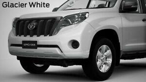 NEW GENUNE TOYOTA PRADO FRONT PARK ASSIST 4 HEAD KIT GLACIER WHITE 040 8/13-8/17