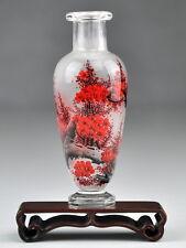 """Chinesisches Glas-Väschen """"Freund des Winters"""", Deko Vase 11 cm"""