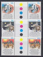 Australia 1981 Christmas traffic lights gutter pairs  Sc 811-813 MNH