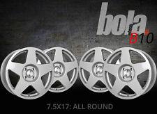 17 inch BOLA B10 4x100 ET40-45 7.5J SILVER alloy wheels  Acura INTEGRA Alpina 3
