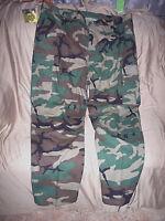 Mens 3X Bdu Pants Cargo Pants Military Bdus Army Bdu Camo Pants Woodland Camo 3X