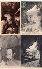 Lot 4 cartes postales anciennes DRÔME route des grands goulets 15