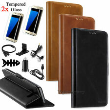 For Samsung Galaxy S7 / S7 Edge Cards Leather Wallet Flip Phone Case Cover Pouch