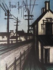 BUFFET Bernard : La route du village - LITHOGRAPHIE originale signée #MOURLOT