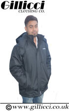 MENS 100% WATERPROOF FLEECE LINED LONG THICK PADDED SKI WORK COAT JACKET S-6XL