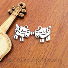 10pcs 16mm charm Silver sheep Pendant DIY Jewelry Making Bracelet necklace 7708