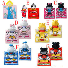 Girl Kids Boy Frozen Minnie Mouse Car Bathing Beach Poncho Hooded Swimming Towel