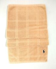 Ralph Lauren Hand Towel Gym Beige Small Pony Used Condition
