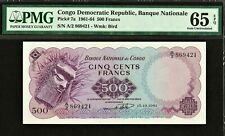 Congo Democratic Republic 500 Francs 1961 Pick-7a GEM UNC PMG 65 EPQ