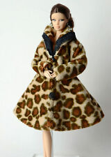 Lovely Fashion Winter fur Coats Clothes/Outfit For Barbie Doll C-u09