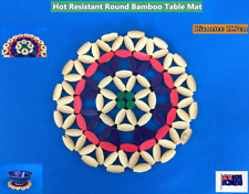 NEW Round Bamboo Hot Resistant Dinner Table Mat - Pot Pan Dish (A34-1)