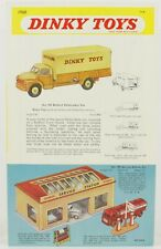 SUPPLÉMENT CATALOGUE UK 1960 DINKY TOYS 4 PAGES 2eme SEMESTRE OLD STOCK SHOP