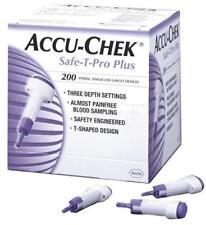 BRAND NEW SEALED Accu Chek Safe T Pro Plus Lancets 200 QTY - FREE POST