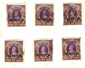 INDIA KGVI Stamps {11} HIGH VALUES Service Overprint Page ex Collection MA988