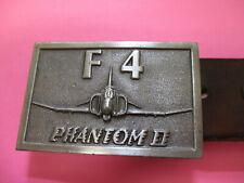 F-4 Phantom II Belt Buckle with letter belt
