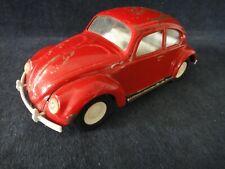 Vintage 1960s Red Tonka Volkswagen VW Beetle Bug Pressed Steel #52680
