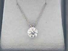 3.75 CT ROUND CUT E/VS1 DIAMOND SOLITAIRE NECKLACE PENDANT 14K WHITE GOLD