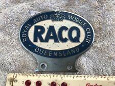 Vintage RACQ Baked Enamel Car Badge QUEENSLAND