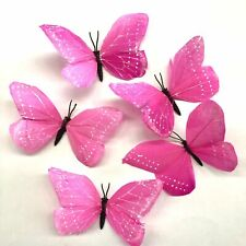 Feather Butterflies Style 2 x 5 Pack - Hot Pink