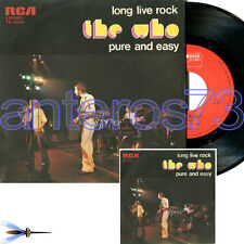 "THE WHO ""LONG LIVE ROCK"" RARE 45RPM MADE IN ITALY - MINT"