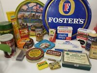 Large Vintage Advertizing Lot Of 25 Various Tins /Containers - MC10