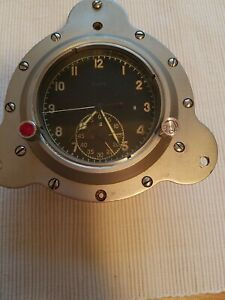 military aircraft watch clock  chronograph  split second timer flyback
