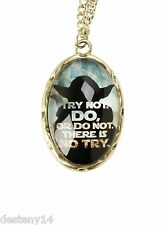 Star Wars Yoda Try Not Cameo Girl's Necklace Try Not Do Or Do Not