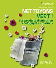 Nettoyons vert ! Les produits d'entretien écologiques... | Livre | état très bon