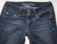 American Eagle Jeans Womens Super Stretch Skinny Size 4 Long 4L Bootcut