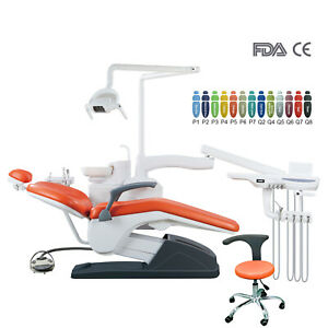 Integral Dental Unit Computer Controlled Hard leather Doctor stool&Unit Chair
